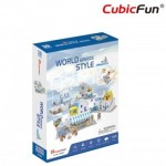 3D Puzzle - 3D World Style - Greece - Difficulty: 4/6