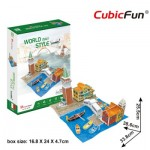 3D Puzzle - 3D World Style - Italy - Difficulty: 4/6