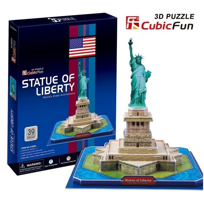 3D Puzzle - New York: Statue of Freedom