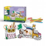 3D Puzzle - Owl Pen Holder & Giraffe Photo Frame
