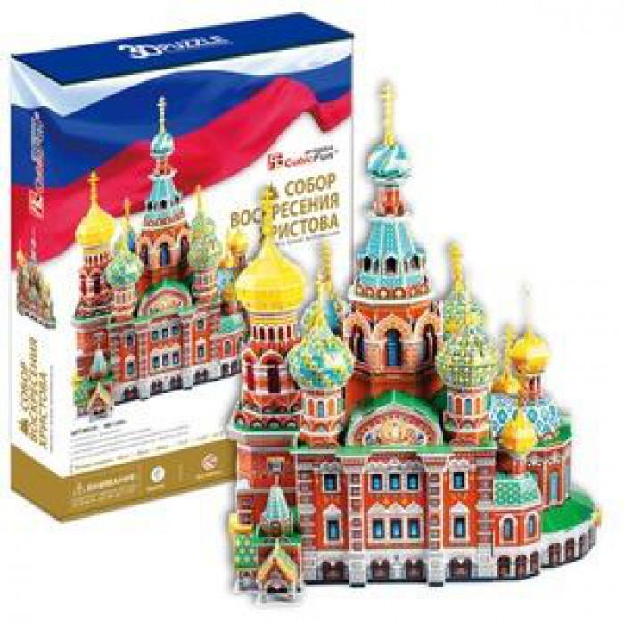 3D Puzzle - Russia: St Spilled Blood Savior Cathedral (Difficulty: 7/8) 233pieces