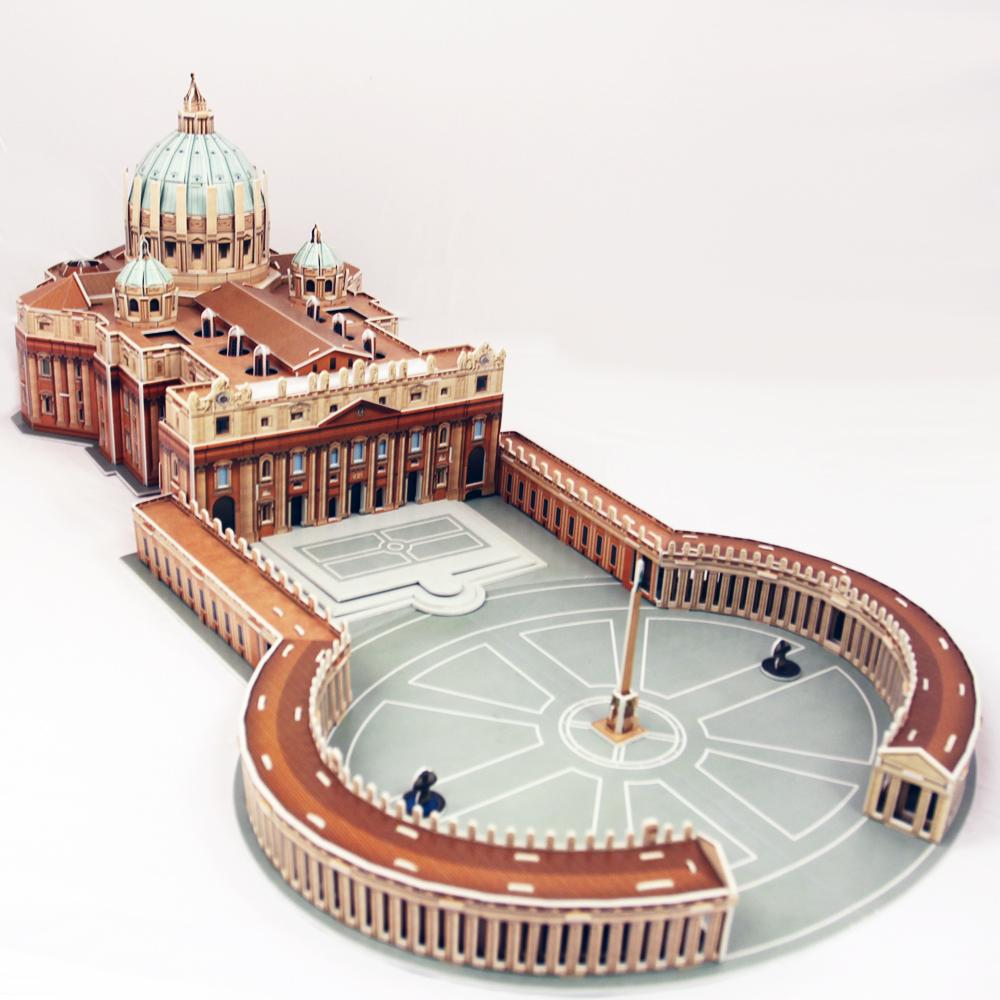 3d puzzle saint peter 39 s basilica in rome cubic fun mc092h 144 pieces jigsaw puzzles. Black Bedroom Furniture Sets. Home Design Ideas