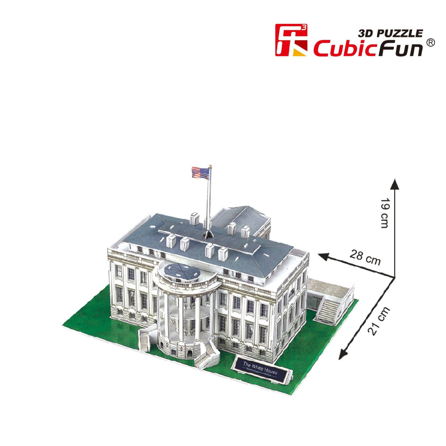 3d Puzzle Washington The White House Cubic Fun C060h 65