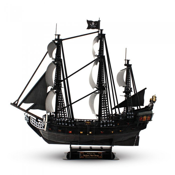 3D Puzzle with LED - Queen Anne's Revenge - Difficulty: 8/8