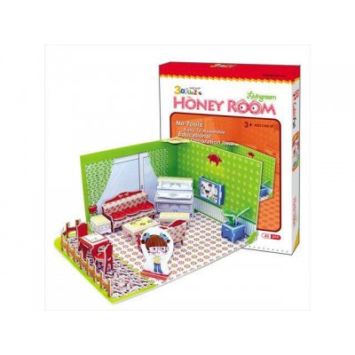 Cubic-Fun-C051-01H 3D Puzzle - Honey Room: living room (Difficulty: 3/8)