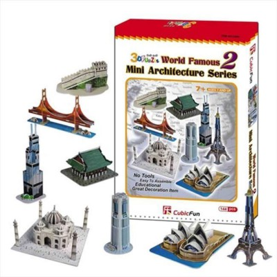Cubic-Fun-C058H 3D Puzzle - Mini Architectures Serie: World Landmarks (Difficulty: 4/8)
