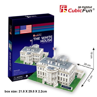 Cubic-Fun-C060H 3D Puzzle - Washington: The White House