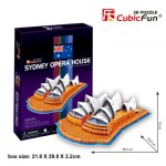 Cubic-Fun-C067H 3D Puzzle - Sydney Opera House (Difficulty: 4/8)