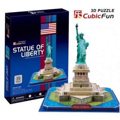 Cubic-Fun-C080H 3D Puzzle - New York: Statue of Freedom
