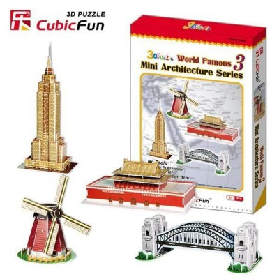 Cubic-Fun-C086H 3D Puzzle - Mini Architectures Serie: World Landmarks (Difficulty: 3/8)