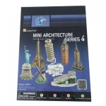 Cubic-Fun-C102H 3D Puzzle - Mini Architectures Serie: World Landmarks (Difficulty: 3/8)