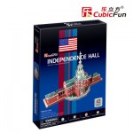Cubic-Fun-C120H 3D Puzzle - Independence Hall (USA) - Difficulty : 4/8