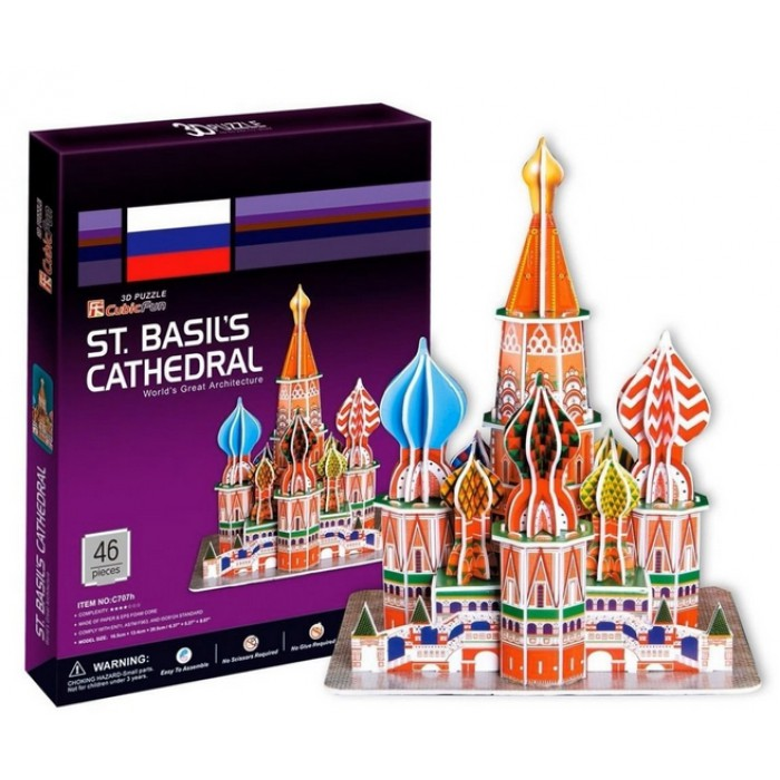 3D Puzzle - Russia, Moscow: St. Basil the Blessed Cathedral