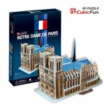 Cubic-Fun-C717H 3D Puzzle - Our Lady of Paris (Difficulty: 4/8)