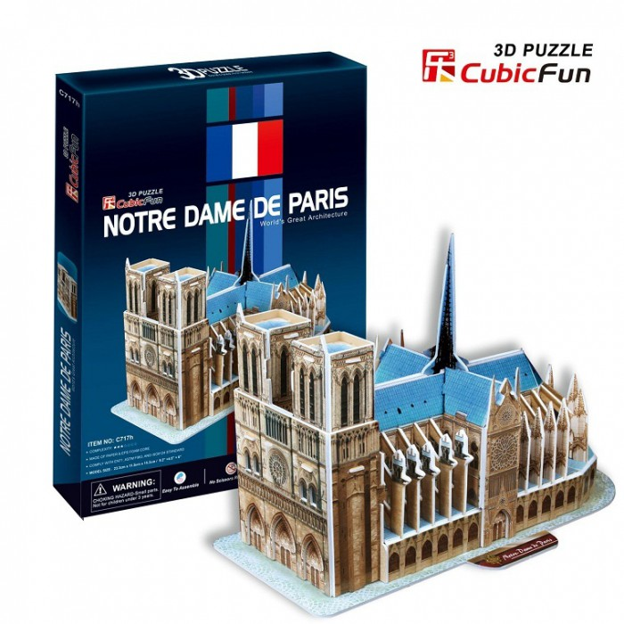 3D Puzzle - Our Lady of Paris (Difficulty: 4/8)