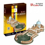 Cubic-Fun-C718H 3D Puzzle - Saint Peter's Basilica in Rome (Difficulty: 4/8)