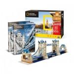 Cubic-Fun-DS0978h 3D Puzzle - Tower Bridge, London - Difficulty: 6/8