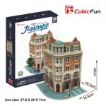 Cubic-Fun-HO4102h 3D Jigsaw Puzzle - Jigscape Collection - Corner Savings Bank (Difficulty: 5/6)