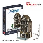 Cubic-Fun-HO4104h 3D Jigsaw Puzzle - Jigscape Collection - Tudor Restaurant (Difficulty: 5/6)