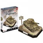 Cubic-Fun-JS4204h 3D Puzzle - U.S. M4A4 Sherman - Difficulty: 5/8