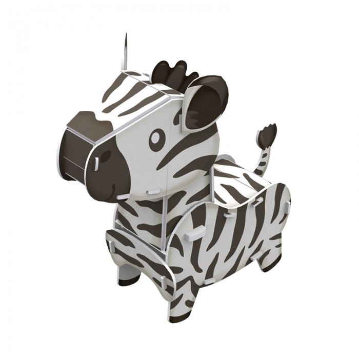 3D Puzzle - Zebra - Difficulty : 3/8