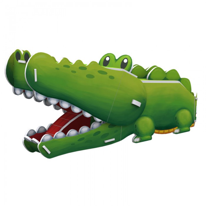 3D Puzzle - Crocodile   - Difficulty : 3/8