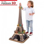 Cubic-Fun-L091H 3D Puzzle with LED - Eiffel Tower, Paris - Difficulty : 6/8