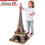 Cubic-Fun-L091H 3D Puzzle with LED - Eiffel Tower, Paris - Difficulty : 6/8