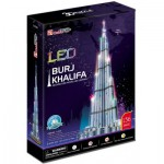 Cubic-Fun-L133H 3D Puzzle with LED - Burj Khalifa, Dubai - Difficulty : 6/8