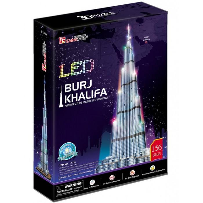 3D Puzzle with LED - Burj Khalifa, Dubai - Difficulty : 6/8