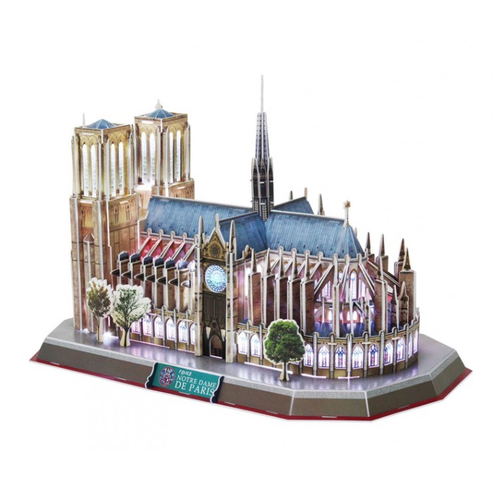3D Puzzle with LED - Notre Dame de Paris - Level difficulty: 6/8