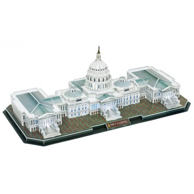 Cubic-Fun-L193H 3D Puzzle with LED - The US Capitol - Difficulty 6/8