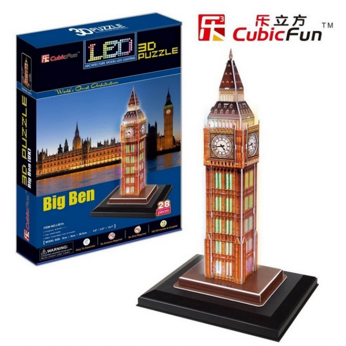 3D Puzzle with LED - Big Ben