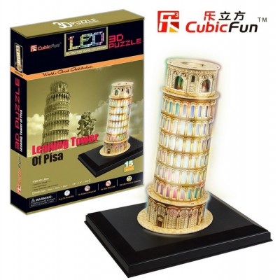 Cubic-Fun-L502H 3D Puzzle with LED - Pisa Tower