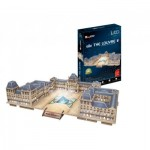 Cubic-Fun-L517h 3D Jigsaw Puzzle with LED - Le Louvre - Difficulty 6/8