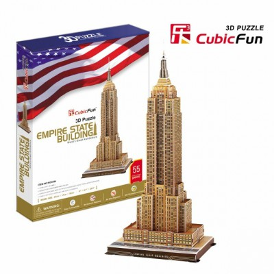 Cubic-Fun-MC048H 3D Puzzle - Empire State Building (Difficulty: 5/8)