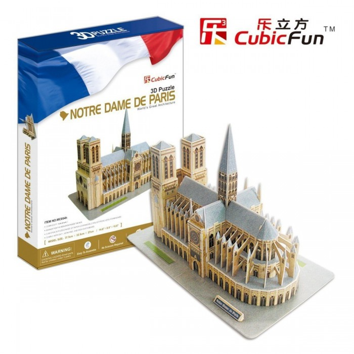 3D Puzzle - France, Paris: Our Lady Cathedral of Paris