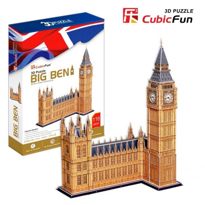 3D Puzzle - London: Big Ben (Difficulty: 7/8)