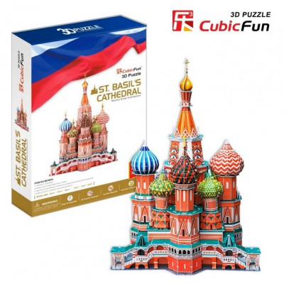 Cubic-Fun-MC093H 3D Puzzle - Russia: Saint Basil the Blessed Cathedral of Moscow (Difficulty: 7/8)