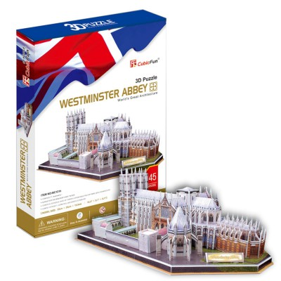 Cubic-Fun-MC121H 3D Puzzle - United Kingdom: Westminster Abbey (Difficulty: 6/8)