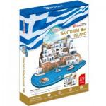 Cubic-Fun-MC195H 3D Puzzle - Santorini, Greece - Difficulty : 5/8