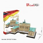 Cubic-Fun-MC207h 3D Jigsaw Puzzle - Brandenburg Gate, Berlin (Difficulty: 5/6)