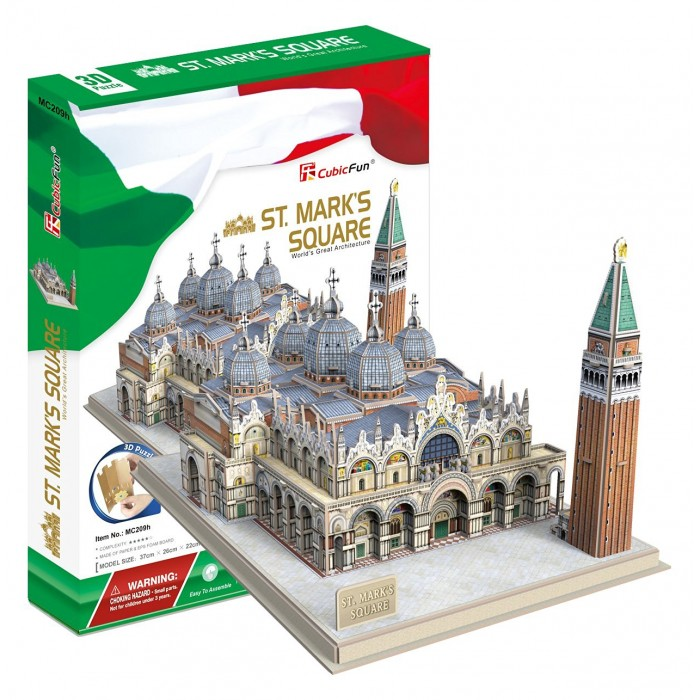 3D Jigsaw Puzzle - St. Mark's Square (Difficulty: 5/8)