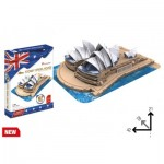 Cubic-Fun-MC217h 3D Jigsaw Puzzle - Sydney Opera House (Difficulty: 4/6)