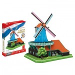 Cubic-Fun-MC219h 3D Jigsaw Puzzle - Dutch Windmill (Difficulty: 5/6)