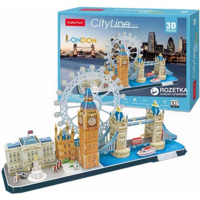 3D Puzzle - London - Difficulty: 4/8