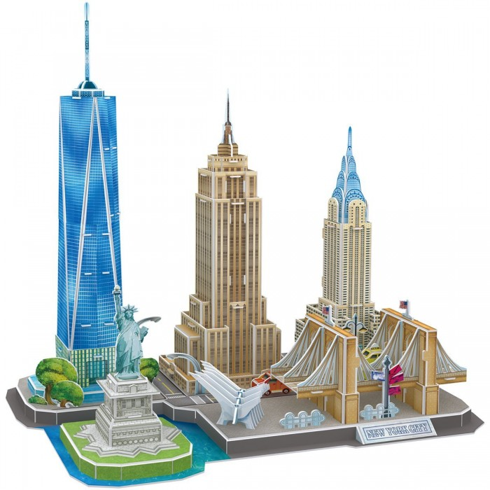 3D Puzzle - New York - Difficulty: 4/8