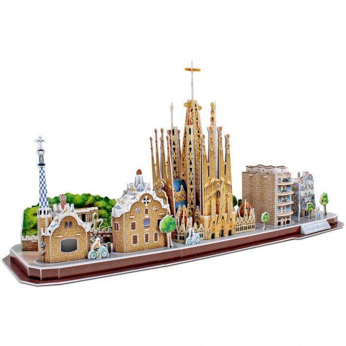 3D Puzzle - Barcelona - Difficulty: 4/8