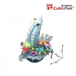 Cubic-Fun-OC3212L 3D Jigsaw Puzzle with LED - Cityscape Collection - Dubai (Difficulty: 4/6)