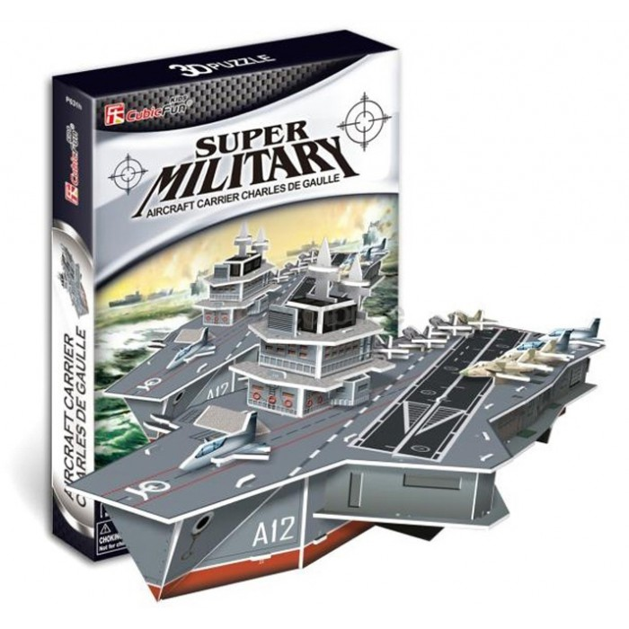 3D Puzzle - Charles de Gaulle Aircraft Carriers (Difficulty: 4/8)